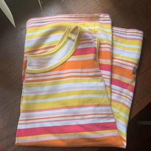 Basic Editions Striped Cotton Tank Top